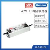 明緯 40W LED電源供應器(HLG-40H-36)