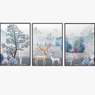 掛畫 北歐客廳裝飾畫現代簡約大氣壁畫沙發背景墻三聯畫餐廳掛畫免打孔 全館免運 快速出貨