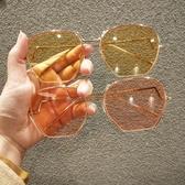新款韓國網紅同款半框太陽鏡街拍時尚不規則墨鏡男女眼鏡潮流