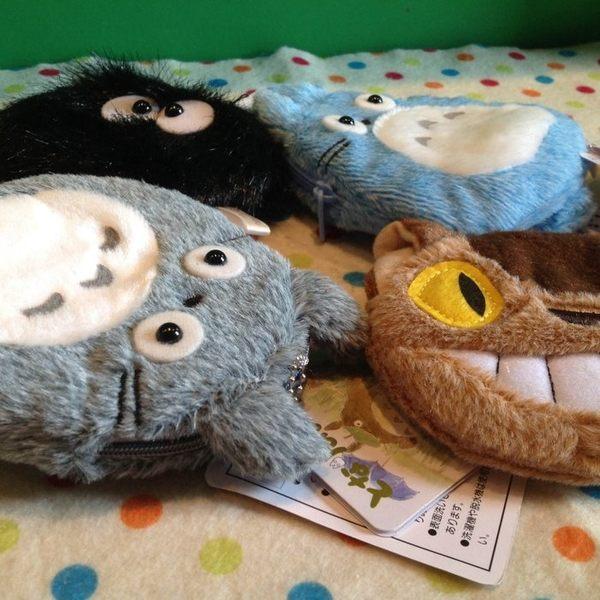 【發現。好貨】日本宮崎駿龍貓 龍貓公車巴士 灰精靈 藍龍貓 小黑炭 毛绒零錢包 收納包 掛飾