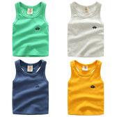 現貨  2-14歲 男童寶寶工字背心 2019夏裝新款男童童裝兒童無袖上衣短袖T恤