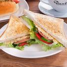 蛋沙拉火腿三明治早餐套餐(附60元飲品)...