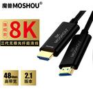 三代高清光纖HDMI線2.1版8K@60Hz 4K@120 Hz電腦電視投影PS4視頻連接線 50cm