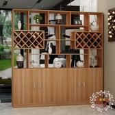 屏風櫃進門玄關櫃客廳隔斷櫃餐廳酒櫃現代簡約屏風櫃裝飾櫃雙面門廳櫃JY