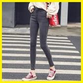 韓版新款黑色高腰牛仔褲女顯瘦九分褲2019夏季款流蘇緊身小腳褲潮