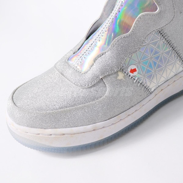 【US6-NG出清】Nike 休閒鞋 Wmns AF1 Rebel XX CNY 銀 白 炫光 Air Force 1 女鞋 中底黃鞋面破無扁鞋帶【ACS】