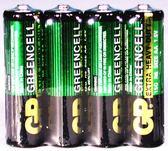 GP碳鋅電池綠色3號 4入