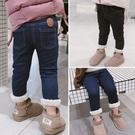 女童內刷毛牛仔長褲 秋冬保暖正韓加厚兒童牛仔褲