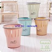 【2個裝】大號垃圾桶 帶壓圈衛生間廢紙簍家用廚房分類拉圾筒【樹可雜貨鋪】