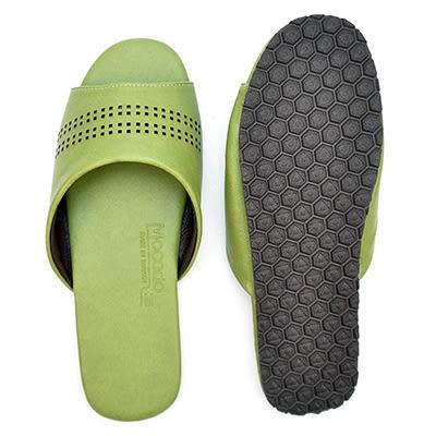 鏤空橄欖舒適皮拖|室內拖 室內拖鞋 拖鞋 止滑拖鞋 防滑拖鞋【mocodo 魔法豆】