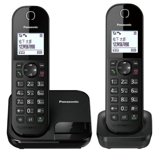Panasonic國際牌 DECT數位無線子母電話KX-TGC282TW 2017年新機上市 / 支援繁體中文注音輸入 贈1對2轉接頭