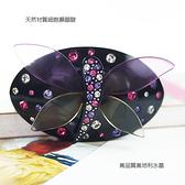 【粉紅堂 髮飾】彩色玻璃般的好美蜻蜓水鑽髮束 *粉紅色 / 黃色 / 藍色 / 黑色*