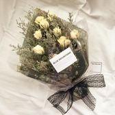 618好康鉅惠玫瑰9朵天然干花花束送母親老師生日禮物