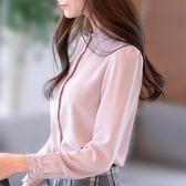 雙十二狂歡襯衫女長袖2018新款韓版百搭雪紡上衣秋冬季加厚保暖打底襯衣