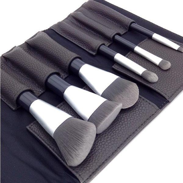 便攜抗菌竹炭纖維毛套刷散粉刷粉底刷眼影刷化妝刷送刷包