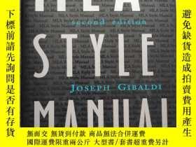 二手書博民逛書店MLA罕見Style Manual and Guide to Scholarly Publishing:Secon