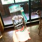 創意玻璃杯便攜可愛學生水杯女隨手杯韓國檸檬杯帶蓋茶杯情侶杯子