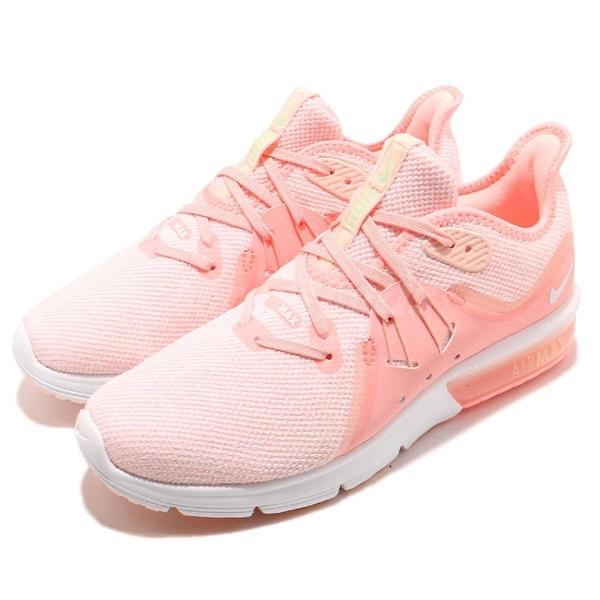 Nike 慢跑鞋 Wmns Air Max Sequent 3 粉紅 白 氣墊 女鞋 運動鞋 【PUMP306】 908993-603
