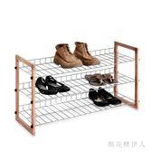 鞋櫃 簡易三層鞋架實木多層鞋架免工具組裝經濟型鞋架 AW7233【棉花糖伊人】