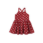 親子裝夏裝母女裝母女親子裙紅色波點寶寶吊帶連衣裙【博雅生活館】