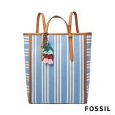 FOSSIL Camilla 天藍色條紋三用後背包ZB7737772