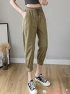 七分褲 七分褲子女夏季薄款寬鬆束腳哈倫工裝褲顯瘦高腰小個子八分休閒褲 愛丫 新品