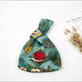 日式和風復古套結手挽袋