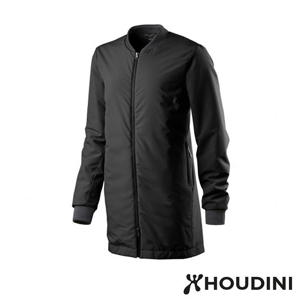 瑞典 Houdini Pitch Jacket 長版MA-1版型鋪科技棉夾克 女 純黑 #105854