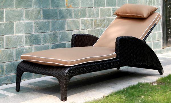 【南洋風休閒傢俱】戶外躺椅系列 - 編藤躺椅 造型躺床 戶外休閒躺床 游泳池躺椅 664-5