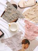 蕾絲內褲女性感三角底褲鏤空透明低腰丁字褲夏薄款    米娜小鋪