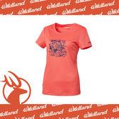 【Wildland 荒野 女 咖啡紗抗UV長版印花上衣《粉橘》】0A61605-78//抗紫外線/吸濕排汗/除臭★滿額送