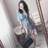梨卡 - 甜美氣質一字領寬鬆上衣+短裙兩件套套裝連身裙連身短裙BR275