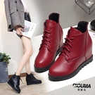 2021秋冬新款女靴子平底內增高單靴短靴女厚底加絨棉靴馬丁靴女潮 8號店