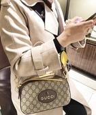 ■專櫃93折■全新真品 ■Gucci GG Supreme 476466 老虎浮雕裝飾相機包