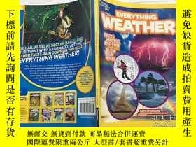 二手書博民逛書店英文原版罕見National Geographic Kids Everything Weather 國家地理的孩子