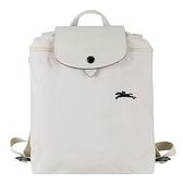【南紡購物中心】LONGCHAMP Le Pliage Collection系列刺繡摺疊後背包(粉白)