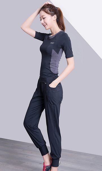 韓國春夏新款瑜伽服套裝三件套女短袖背心休閒運動跑步健身喻咖服   -cmx0030