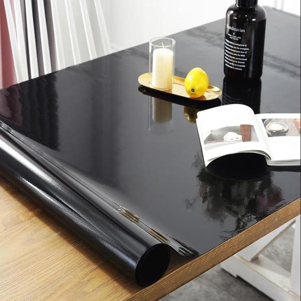 桌布黑色磨砂PVC桌布透明軟質玻璃防水餐桌台布塑料桌墊免洗防油茶几 亞斯藍