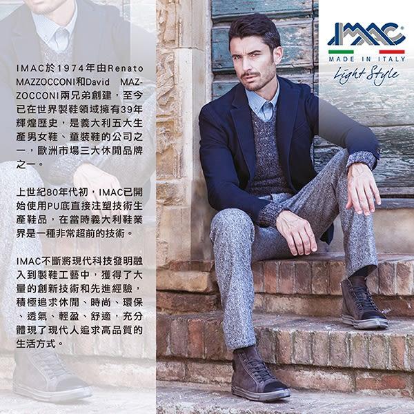 【IMAC】義大利牛皮孔飾皮紋輕量抗震德比紳士氣墊鞋 黑色(100261-BL)