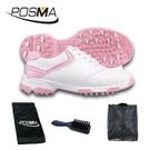 高爾夫球鞋女款球鞋 防側滑釘鞋 防水透氣 舒適柔軟 GSH051WPNK