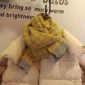 寶寶圍巾韓版潮格子冬季保暖圍脖女童男寶寶針織毛線防風兒童圍巾