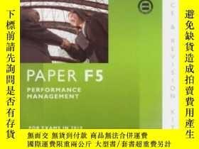 二手書博民逛書店Acca罕見- F5 Performance ManagementY256260 Bpp Learning M