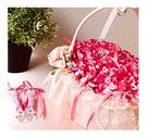 幸福朵朵【愛的泡泡】泡泡水x120份(可免費印名字)+小提籃x1個 -二次進場氣氛婚禮小物