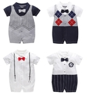 嬰兒短袖連身衣 紳士 假兩件春夏兔裝 寶寶童裝 棉質嬰兒服 LW1362 好娃娃