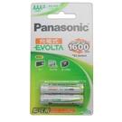 Panasonic 國際牌 AAA-4號鎳氫充電池 800mah/一卡2個入(促299) EVOLTA 低自放-可充電約1600次-