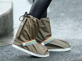 雨天防水鞋套加厚耐磨底 下雨戶外騎行成人防滑防雨鞋套男女腳套  青木鋪子