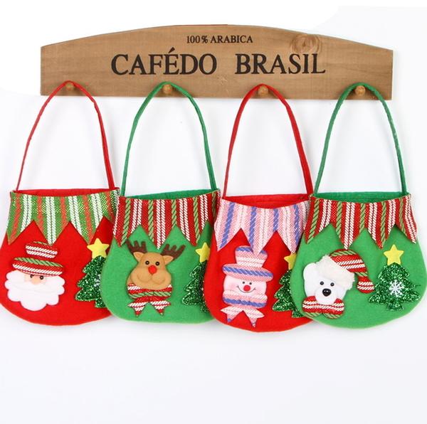 新款聖誕禮物袋糖果袋 新款聖誕蘋果禮物袋 聖誕裝飾品 派對用品─預購CH2512