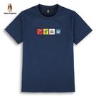 Hush Puppies T恤 男裝趣味刺繡圖騰棉質短袖T恤