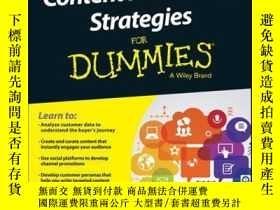 二手書博民逛書店Content罕見Marketing Strategies For DummiesY410016 Stepha