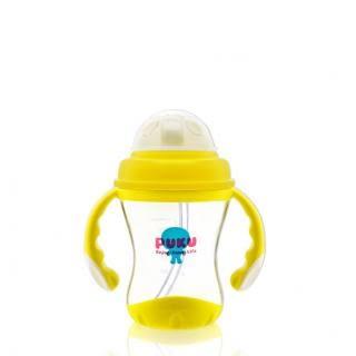 『121婦嬰用品館』太空彈跳吸管練習杯180ml(8個月以上適用)
